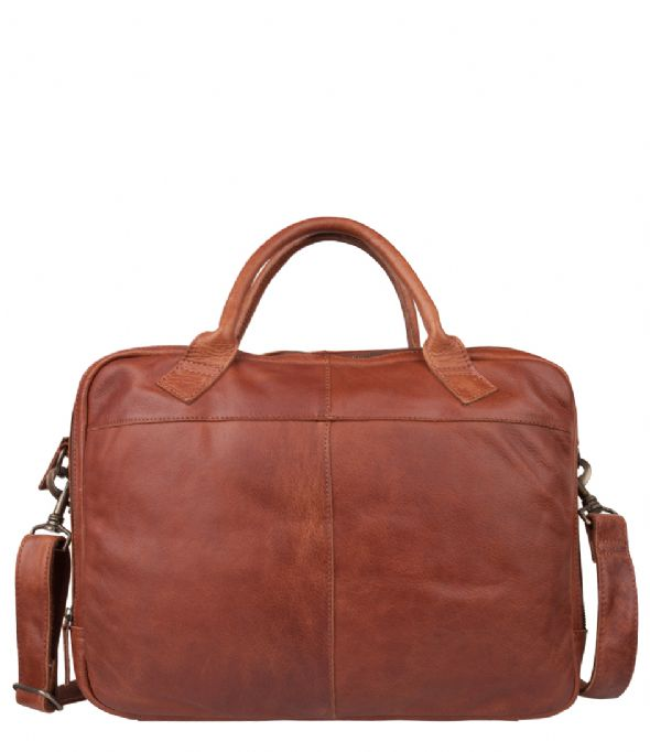6ac9cf94e0a Laptop Bag Graham 17 inch Cognac | Cowboysbag